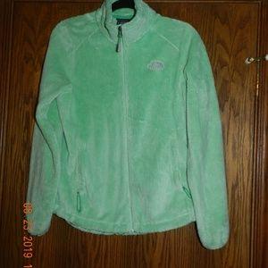 Women's North Face Green Full Zip Osito Jacket